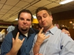 Chris with Grant from Throwing Toasters at the Comedy Band Rock 'n Bowl